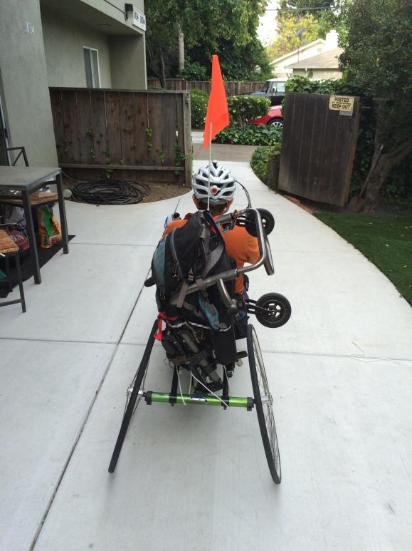 Wheelchair sculpture w/ bungee cords